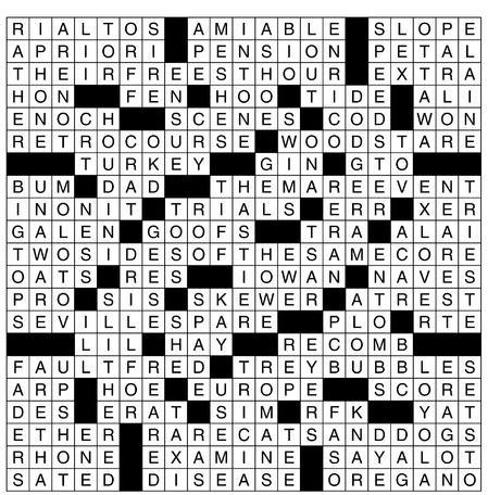 Arrowhead-Fall2017-puzzle answers
